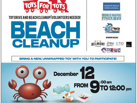Updated Toys 4 Tots Drive and Beach Cleanup