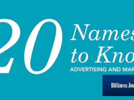 Business Journal: 20 Names to know in Advertising & Marketing