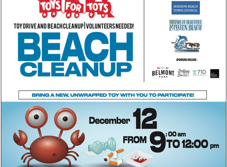Toys 4 Tots Drive and Beach Cleanup