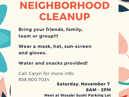 Rose Creek Neighborhood Cleanup