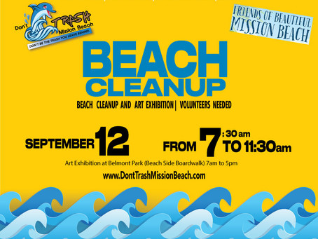 Volunteers Needed: Beach Cleanup and Art Exhibition