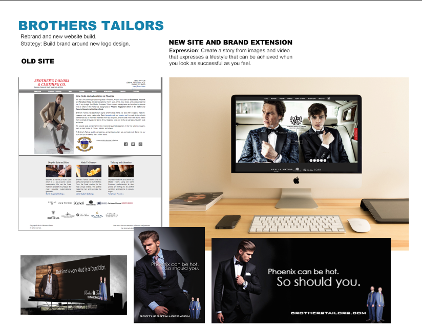 brothers tailors branding by FWPR
