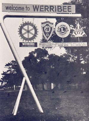 WELCOME TO WERRIBEE SIGN