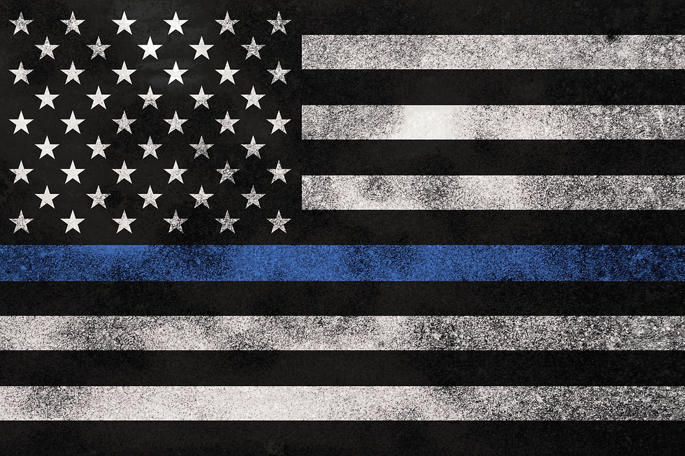 An American flag symbolic of support for