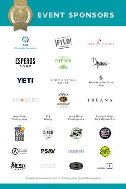 2017 Event Sponsors #FeedThePeace