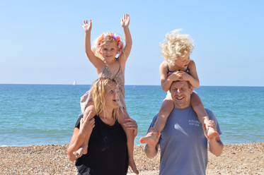 family photography at the beach