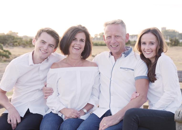 Family photoshoot at Stanpit Marsh