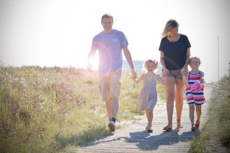 Family photography at Hengistbury Head