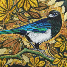 The Magpie Greetings Card by Chloe Morter Design