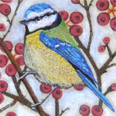 Blue Tit Greetings Card by Chloe Morter Design