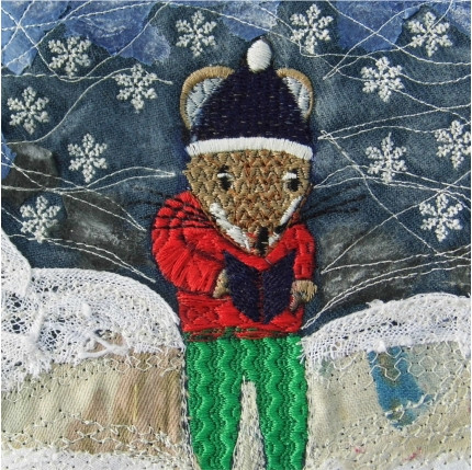 Mouse Carols Christmas Greetings Card by Chloe Morter Design