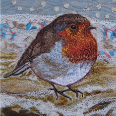Robin Christmas Greetings Card by Chloe Morter Design