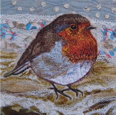 Robin Christmas Greetings Card by Chloe Morter Design