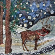 Lapland Reindeer Christmas Greetings Card by Chloe Morter Design