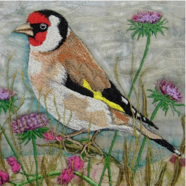 Goldfinch Greetings Card by Chloe Morter Design