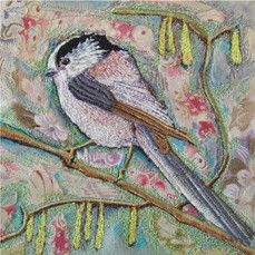 Long-tailed Tit Greetings Card by Chloe Morter Design