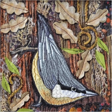 Nuthatch Greetings Card by Chloe Morter Design