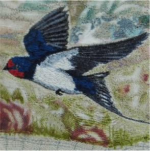 Swallow Greetings Card by Chloe Morter Design