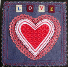 Love Heart Greetings Card by Chloe Morter Design