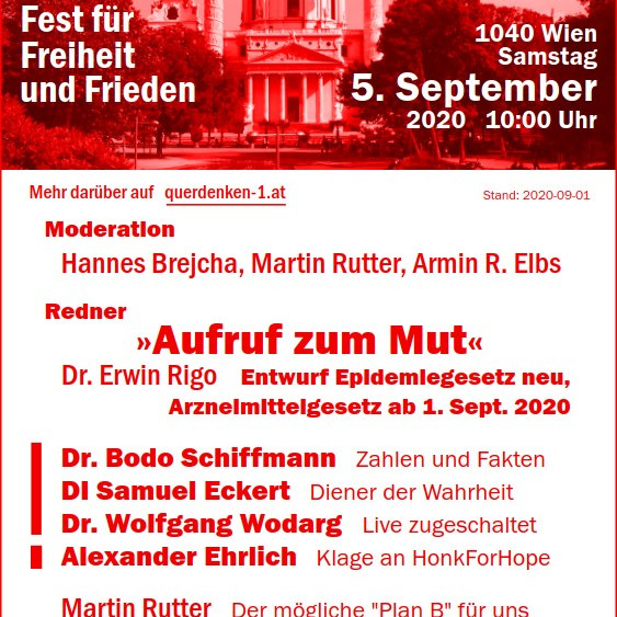Aufruf zum Mut - Fest für Frieden, Freiheit und Gerechtigkeit