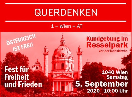 Querdenken 1-Wien Fest für Freiheit und Frieden