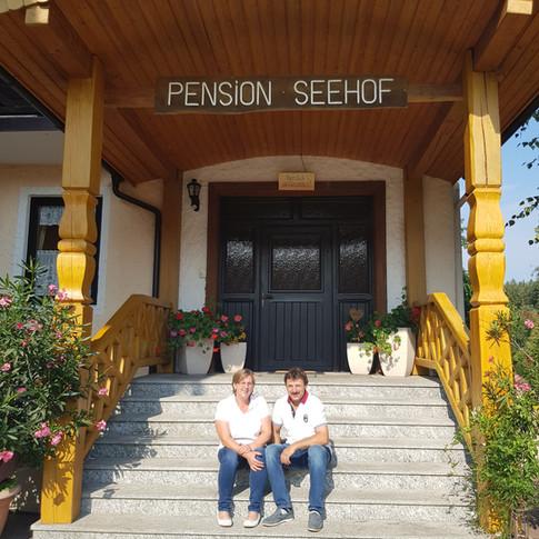 Eingang zur Pension Seehof