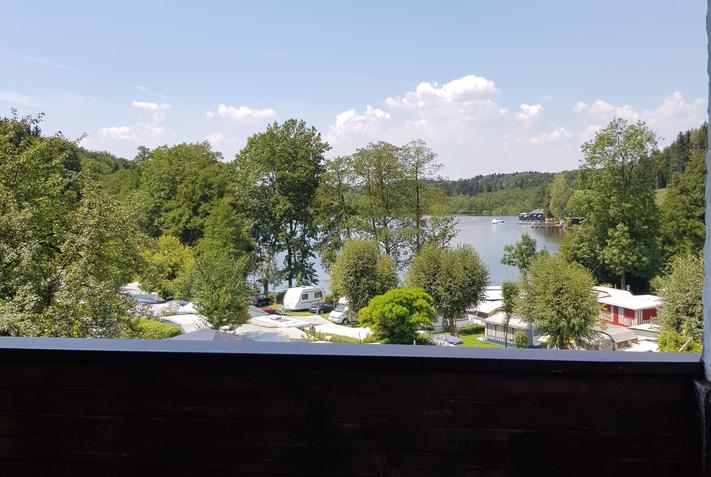 Aussicht vom einem Balkon
