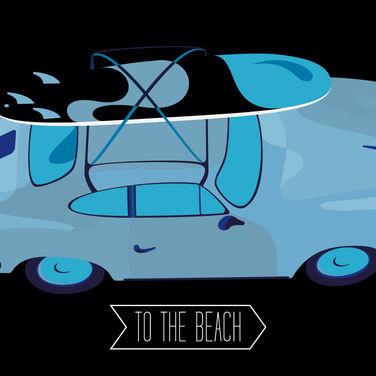 Beach Porsche