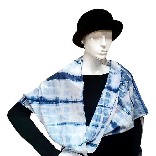 Silk and Cotton Shibori Wrap