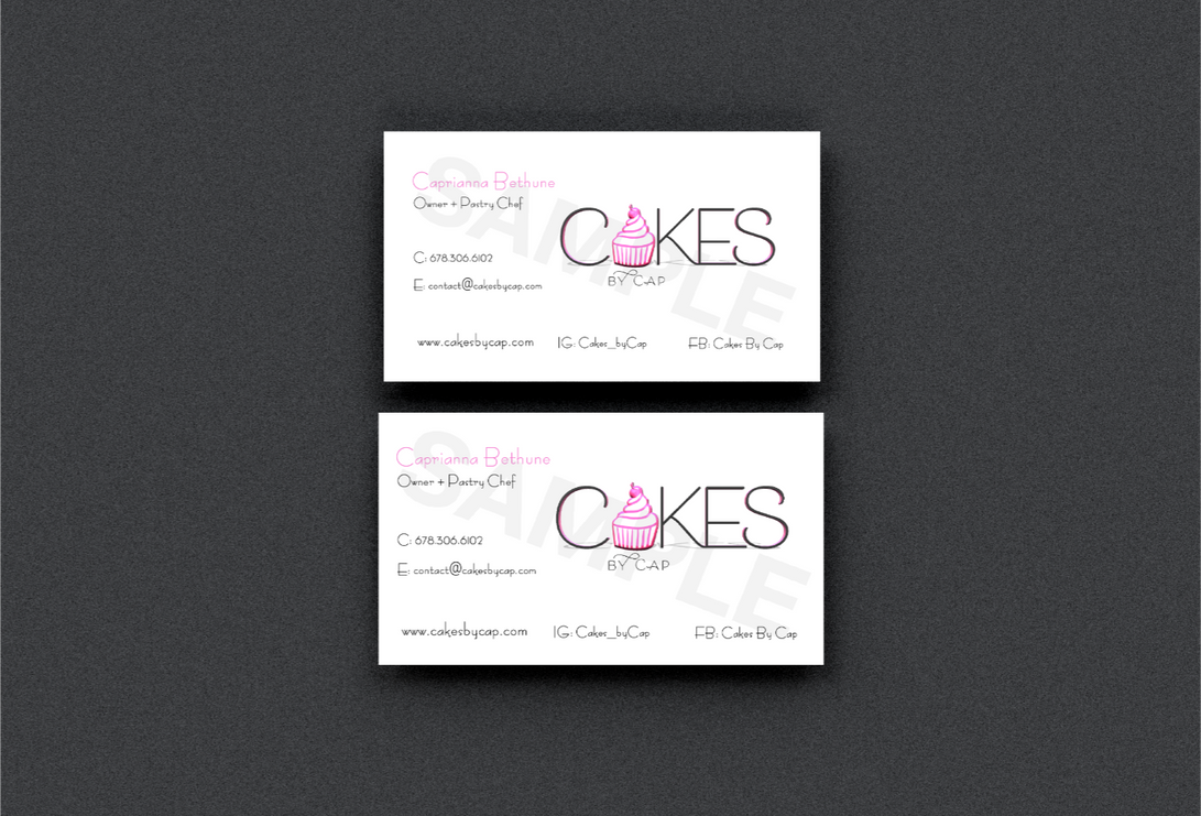 CAKES BY CAP BUSINESS CARDS