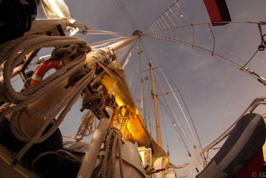 Ocean Star Mass against Caribbean Night Sky