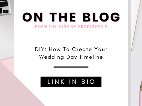 DIY: How To Create Your Wedding Day Timeline