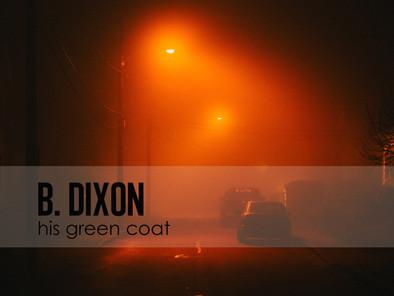 his green coat