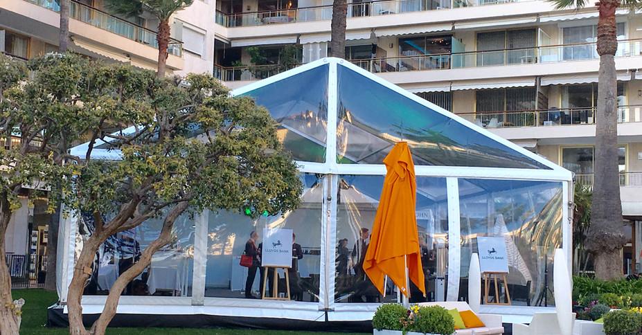 Chapiteau cristal Festival de Cannes