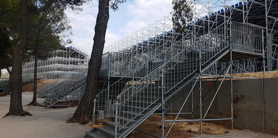 Escalier d'accès tribunes Le Castellet