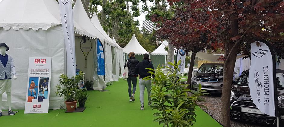 Village de tentes Open de Tennis Marseil