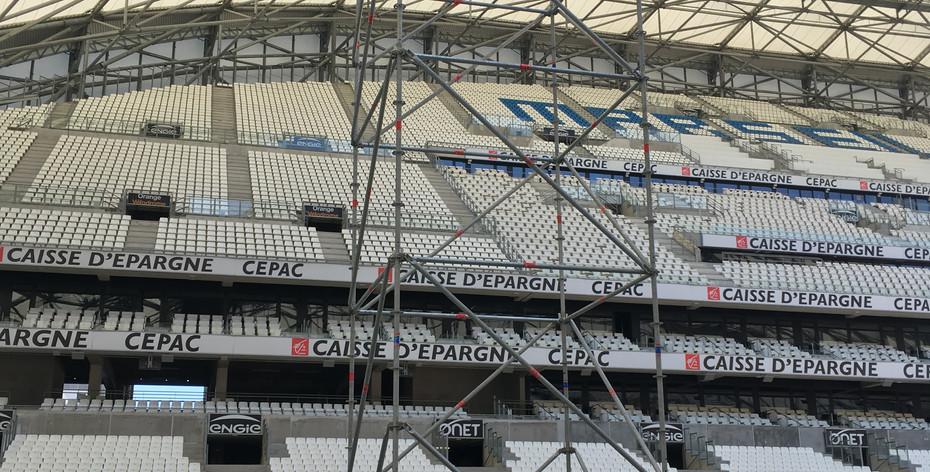 Tour échafaudage Vélodrome Marseille