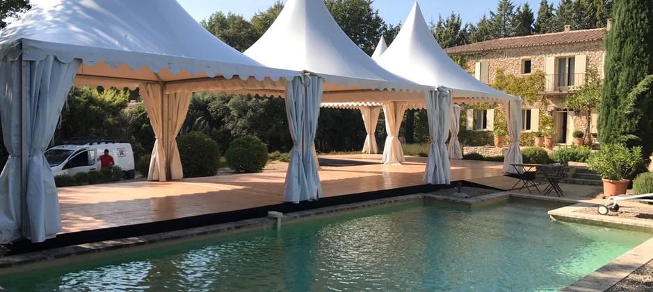 Tentes pagodes Provence