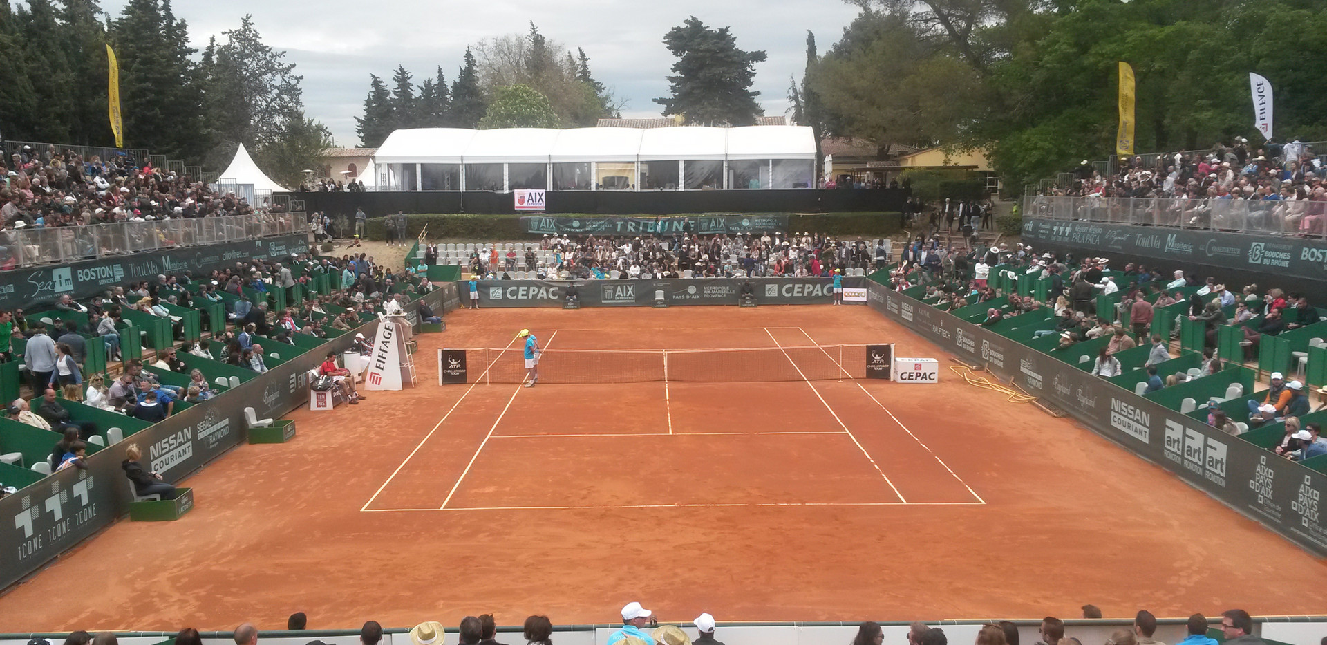 Tribunes Open de Tennis d'Aix