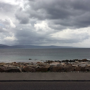 The view  of the Burren from Spiddal, Ga