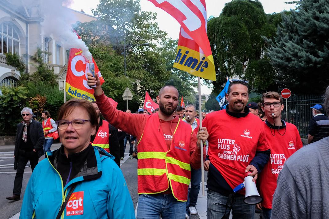 la loi Travail, Mulhouse, 12/09/2017