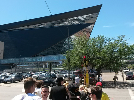 Besichtigung des US-Bank Stadium