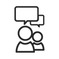 Tiny Man Digital Communication Icon
