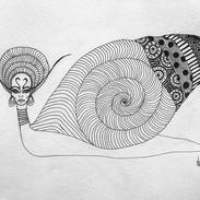 Snail Queen 🐌 👸 _#snail #queen #ink #a
