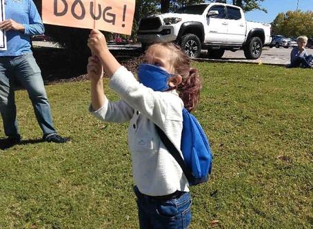 Human Billboard: Sign Waving for Senator Doug Jones