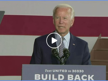 "Joe Biden Live!  ""Build Back Better"""