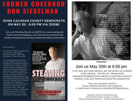 Former Governor Don Siegelman Joins Us
