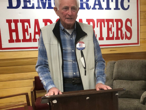 A message from Jim Justice of the Jim and Shirley Justice Center and HQ for Calhoun County Democrats