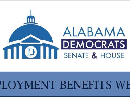 Alabama Democrats Senate & House Unemployment Benefits Webinar