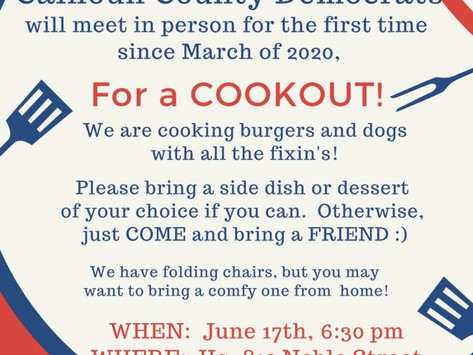 A COOKOUT AT HEADQUARTERS!